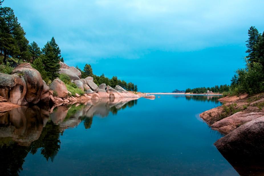 Rampart Range Reservoir in Colorado.