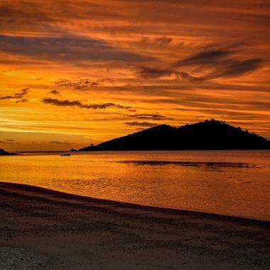 Sunset Collection (5() - Fiji - Blazing Fiji Sunset