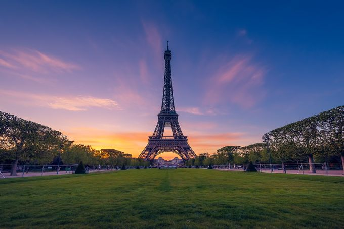 Eiffel tower at sunset by georgepapapostolou - City Of Love Photo Contest