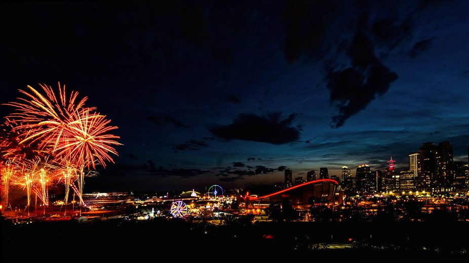 Calgary with a sprinkle of Stampede Fireworks