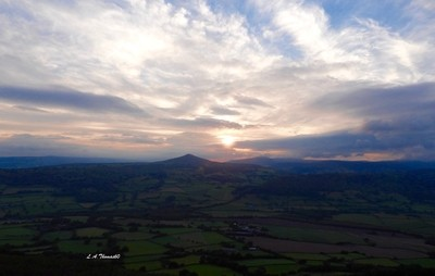 Sunset from the top of the Skirrid, Breacon Beacons