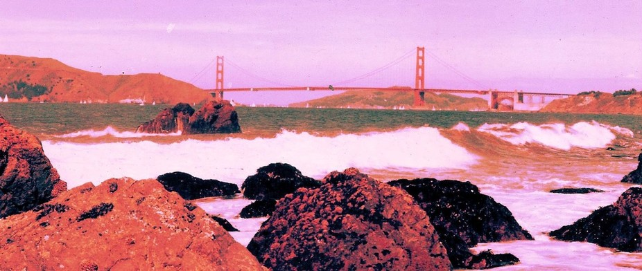 ''Golden Gate-Pacific Ocean.'' ''At San Fra...
