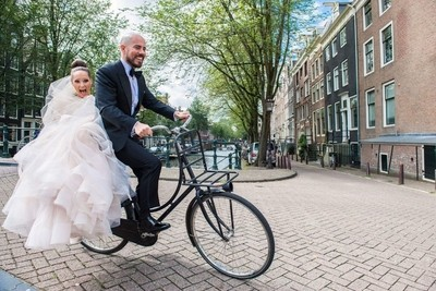 When you take your bride for a ride but the bridge is steeper then expected.