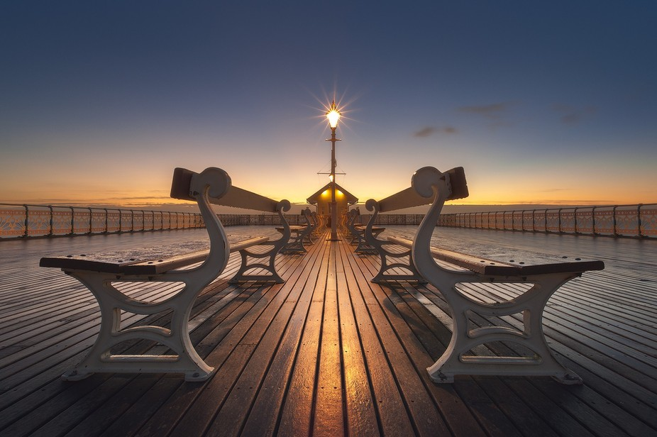 When I was starting out, I had a bit of a fixation on Penarth pier and it's amazing symmetrical...