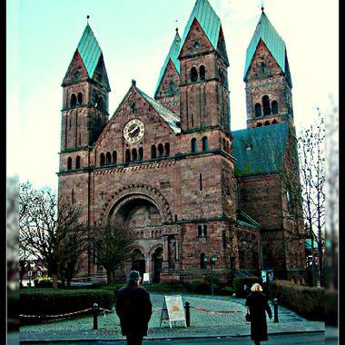 The 4 towered church at Bad Homberg.