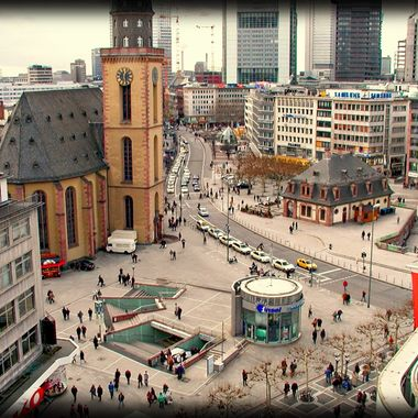 Photo of part of Frankfurt taken at height.