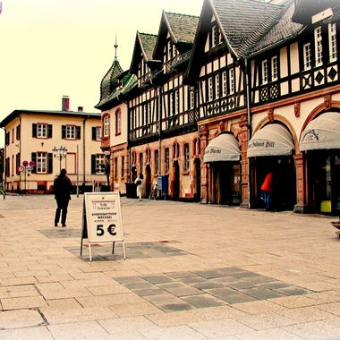 In the town centre of Bad Homberg.