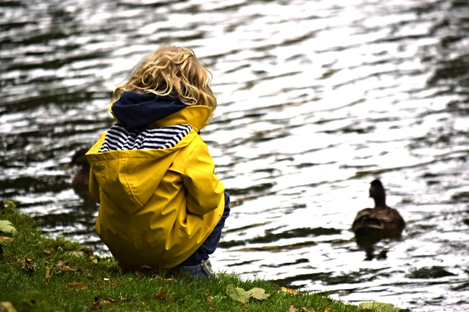 Little girl and duck copy