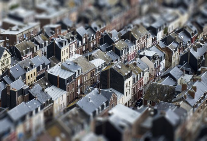 Treport Rooftops toytown by gogosviewbug - TiltShift Effect Photo Contest