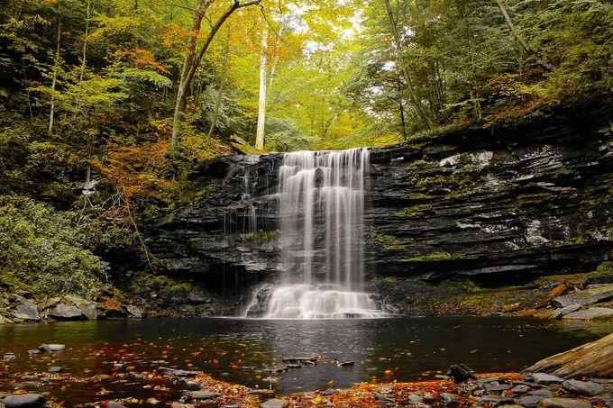 Fall Colors  by tonybendele2017 - Beautiful Waterfalls Photo Contest