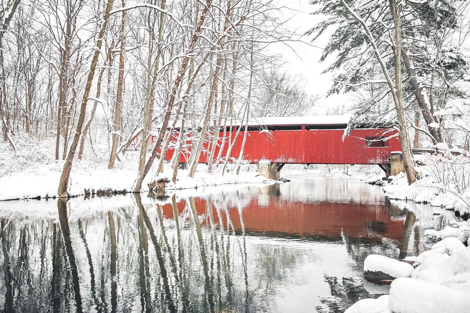 Esther Furnace Bridge spans the North Branch of Roaring Creek in Cleveland Township. It is on Est...