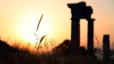First light at the Temple of Apollo, Rhodes