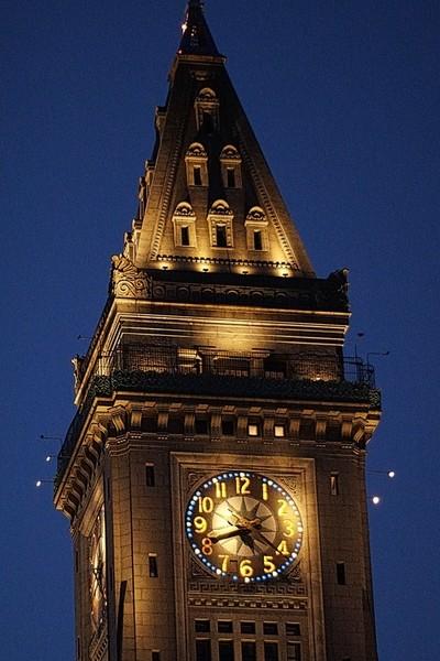 Customs House Clock Boston
