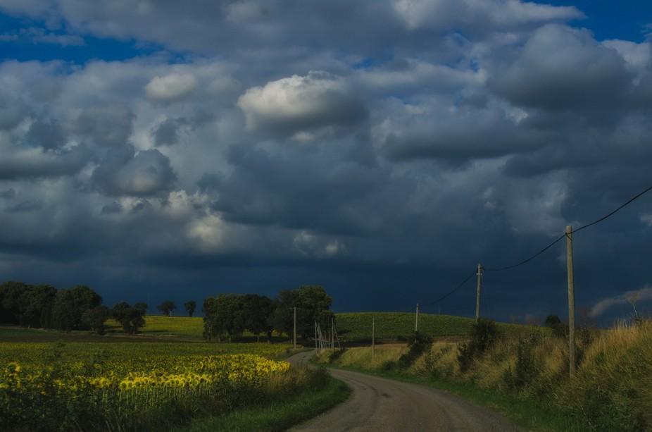 Countryside near Castelnaudary, France.