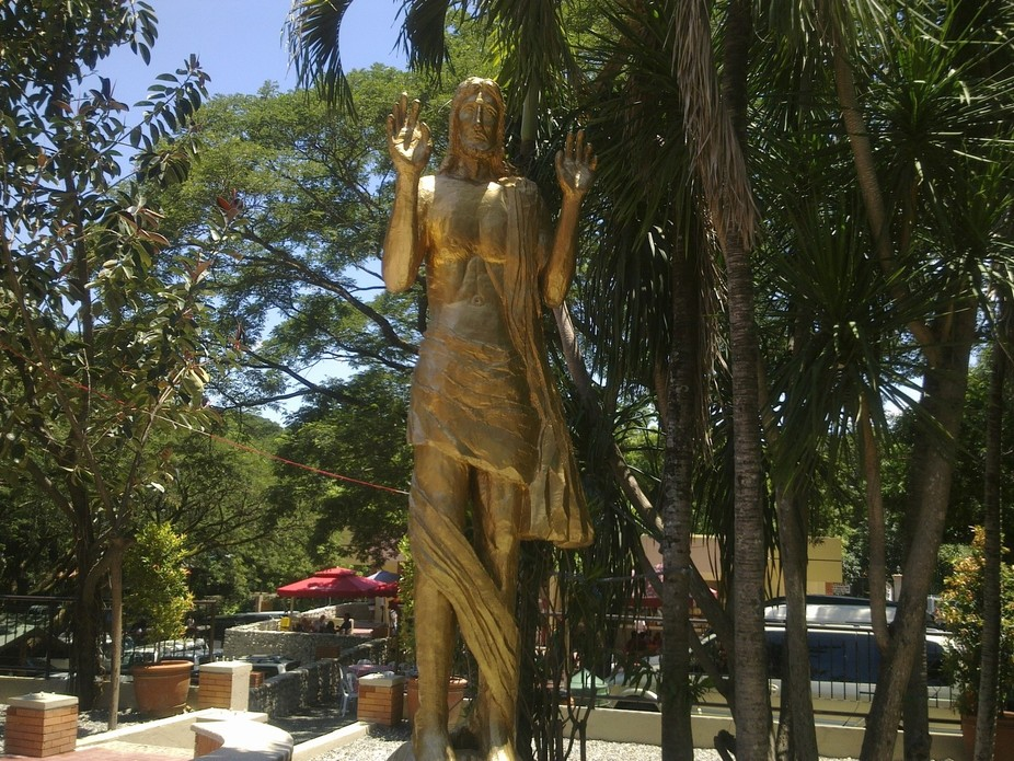 THIS STATUE OF JESUS CHRIST CAN BE FOUND IN THE CENTRAL LUZON. THIS IS MADE OF COPPER MATERIAL AN...