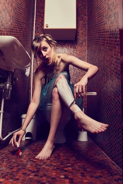 Behind the WC's door - Shave my legs