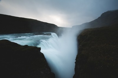 .welcome to the biggest waterfall in europe 'godafoss' in iceland