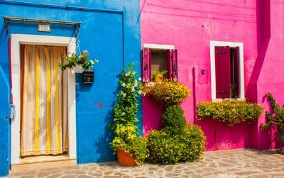 House front colours, Burano, Italy