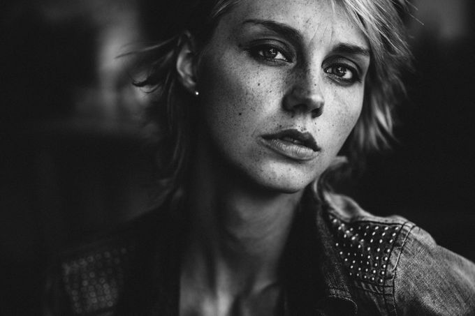 Kim V by yannickdesmet - Black And White Female Portraits Photo Contest