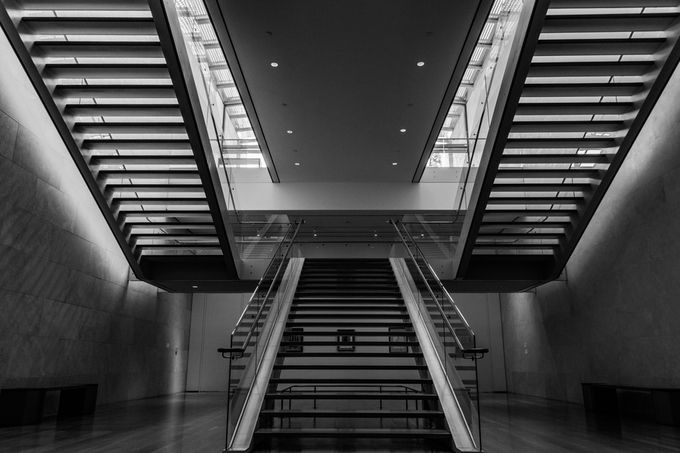 stairs mono-HDR by Johnsalterego - Simple Architecture Photo Contest