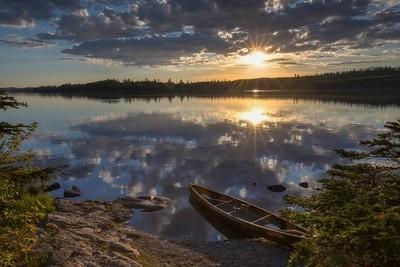 Sunset on Knife Lake_MG_2596_7_8