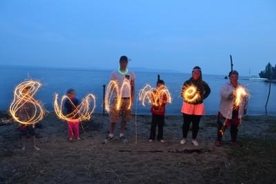 Sparklers at Cedar Bay