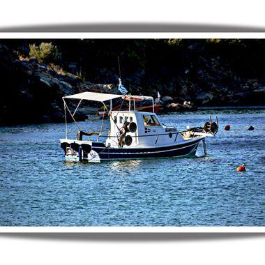 A small greek fishing boat.