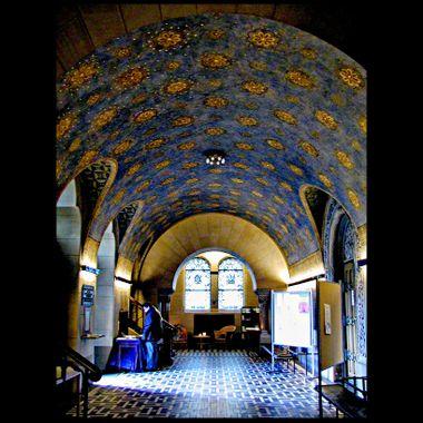 Inside of church in Bad Homberg.
