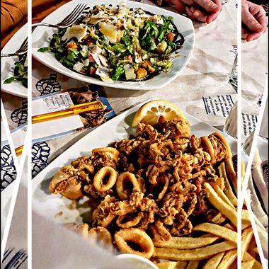 2 excellent dishes at Taverna Haravgi - Samos.