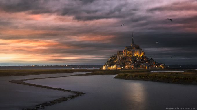Mont Saint Michel by Rodrigueelhajj - Enchanted Castles Photo Contest