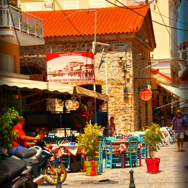 Backstreet in Samos Town.