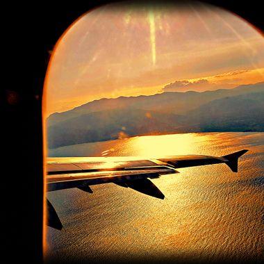Flight at dusk.