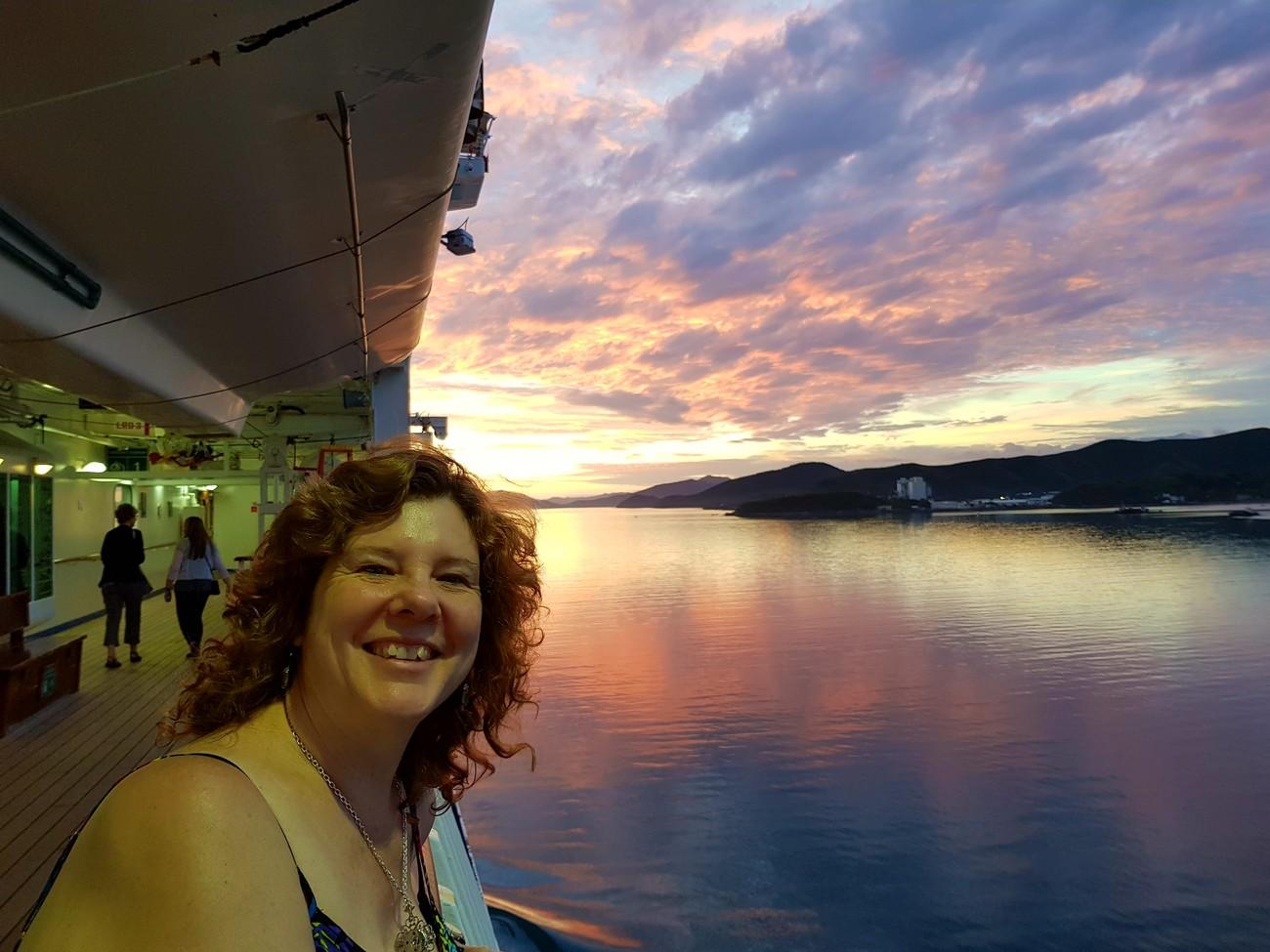 Sailing out of Port Vila Vanuatu.