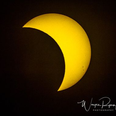 Shot throughout the Solar Eclipse from 8/21/2017 in Riverside, CA where we got about 40-50% coverage of the moon over the sun.  Canon 60D with shutter release, T-mounted into a Celestron Powerseeker 127EQ telescope with solar filter and motor drive. Larger file size for sale.
