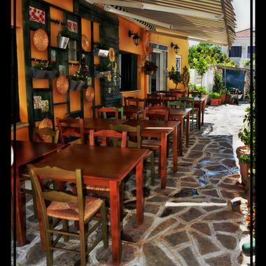 a small restaurant in Pithagorio Samos.