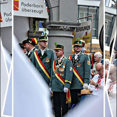 The Libori parade service in Paderborn Germany.