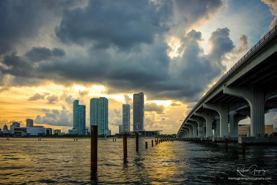 City of Miami, Florida, USA View from Watson Island