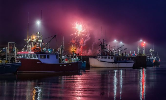 Fundy-Fireworks by tracymunson - Fog And City Photo Contest