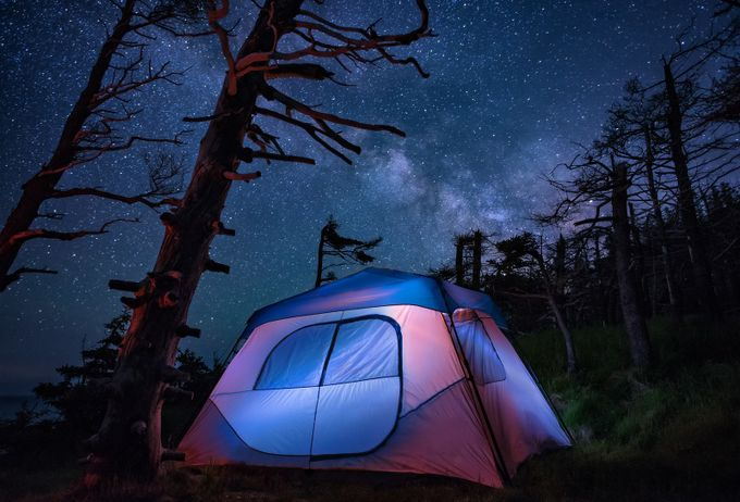 Camping-Cliffside by tracymunson - Outdoor Camping Photo Contest