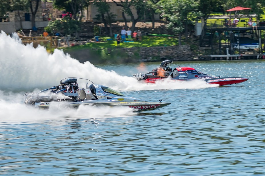 Boat races at Lake Fest 2017 in Marble Falls, TX