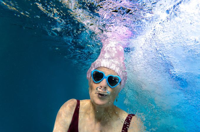 pink bathing cap wb by fotofrankyat - We Love The Summer Photo Contest