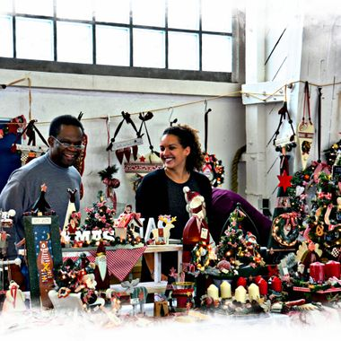 Stalls selling Xmas goodies in Paderborn Barracks.