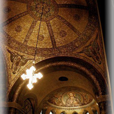 Gold Ceilings in German Church.