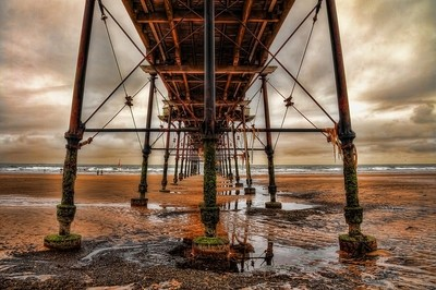 Tide Out Under The Pier