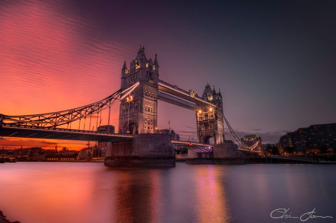 Rippling Sunset at Tower Bridge by Chris_James - London Photo Contest