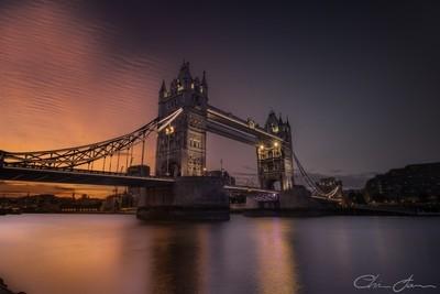 Rippling Sunset at Tower Bridge
