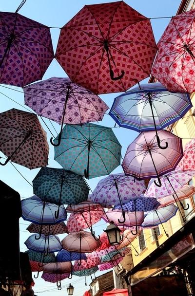 Les parapluies de Skopje