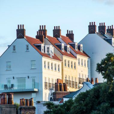 St, Peter Port Sunset on Houses