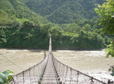 489, bridge over the Trisuli, Nepal