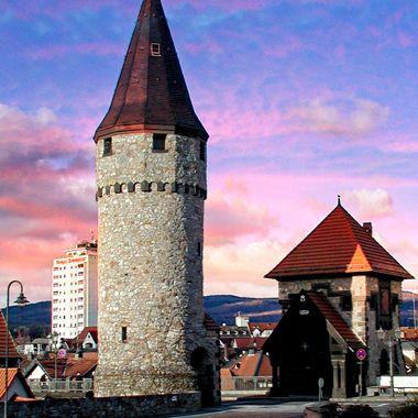 Tower gate at Bad Homberg, Germany.